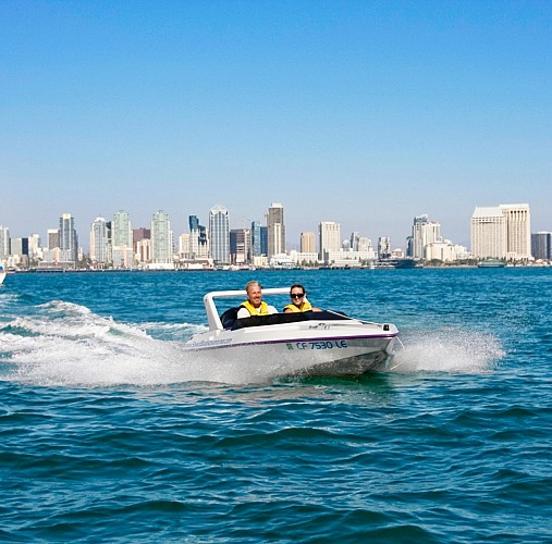 Speed Boat Driving on San Diego Bay
