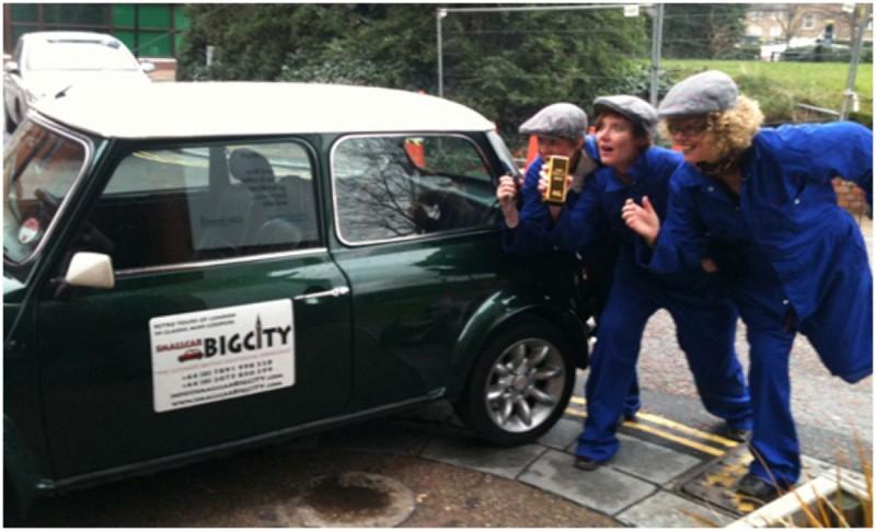 """The Italian Job"" themed tour of London by Mini"