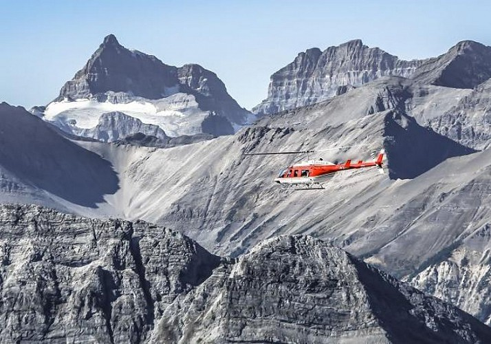 Private Helicopter Flight over the Canadian Rockies – Departing from Canmore