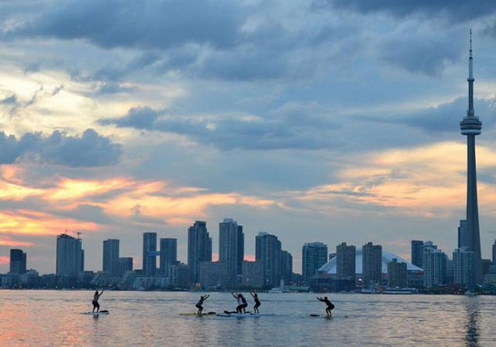 Sunset Yoga Class on a Stand-Up Paddle Board