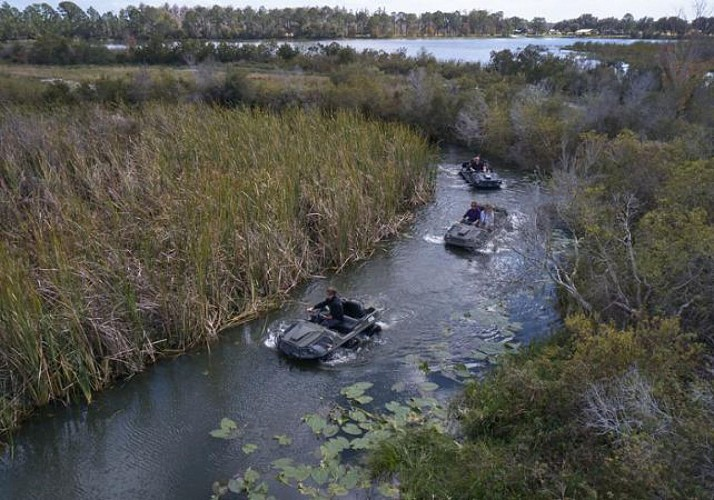 """Drive the """"Mucky Duck"""" : an off-road amphibious vehicle"""