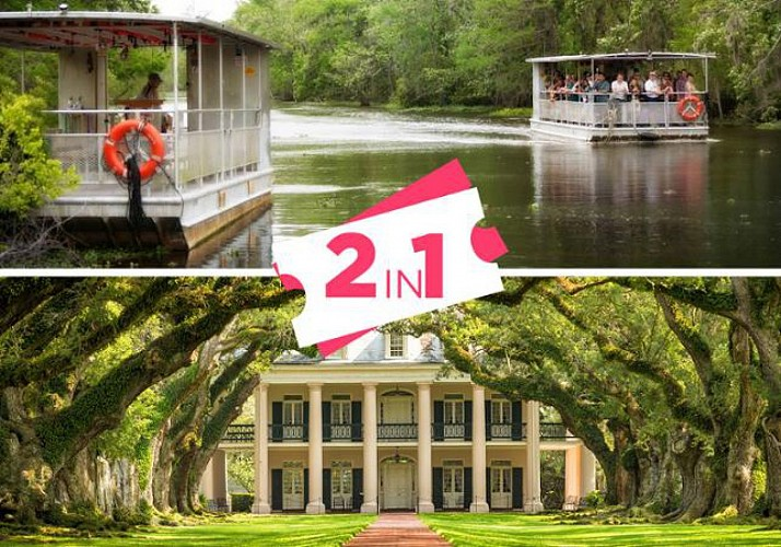 2-in-1 Offer: Destrehan Plantation Tour and Bayou Boat Trip