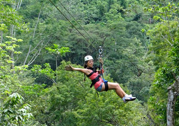 Zip-line Tour and Cable Car Ride through The Canopy – On The Pacific Coast