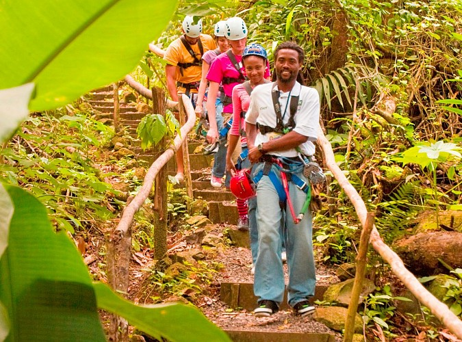 3-in-1 Tour: Cable Car Ride, Zip-line Tour & Hike in the Tropical Rainforest – In St. Lucia
