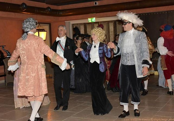 "The Venice Carnival– Traditional Dance Lessons, Hot Chocolate at the Hotel Splendid Venice and ""Svolo del Leon"" performance"