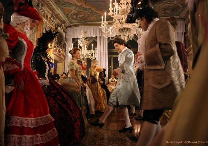 """Ballo Tiepolo"" Grand Costume Ball during Venice Carnival – Gourmet Dinner at the Palazzo Pisani Moretta (optional)"