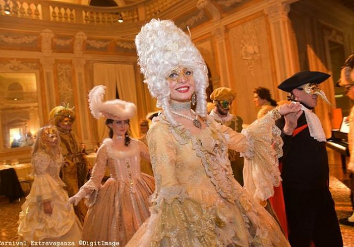 """Ballo Tiepolo"" Grand Costume Ball during Venice Carnival – Gourmet Dinner at the Palazzo Pisani Moretta (optional)"