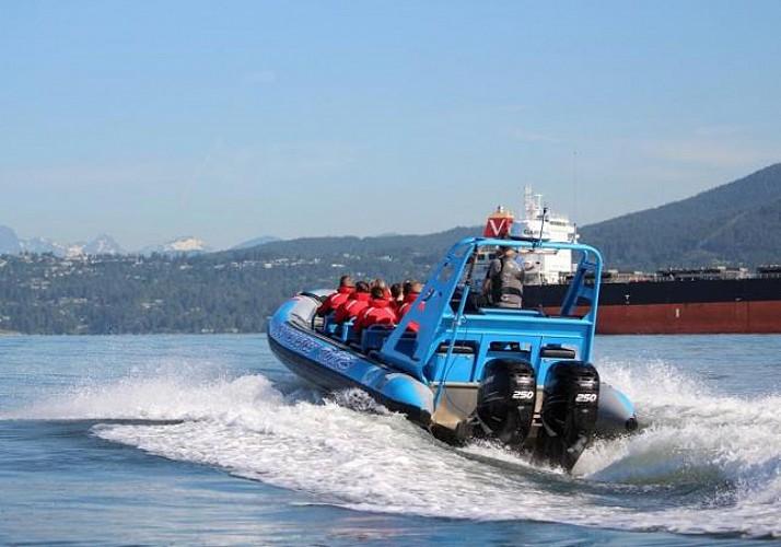 Zodiac Boat Tour to Granite Falls in Vancouver
