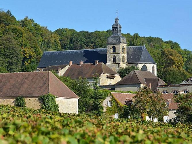 Abbaye bénédictine et enseignes en fer forgé