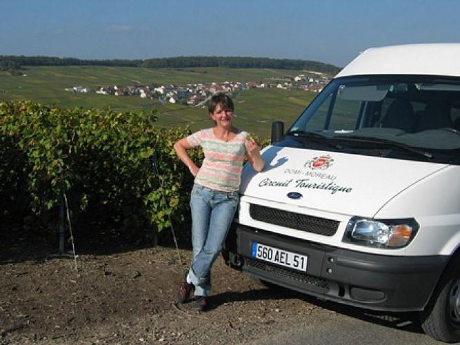 Balade dans les vignes en minibus - Champagne Domi-Moreau