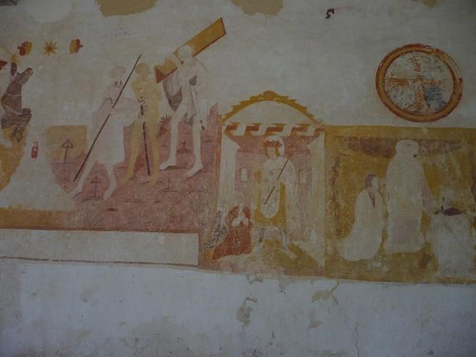 Fresque de l'église Saint-Martin de Moeurs