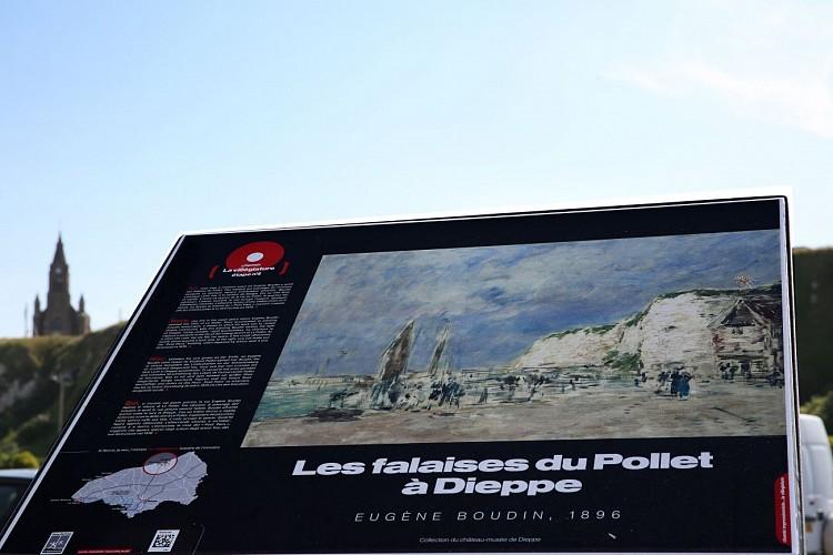 Table de lecture impressionniste n°7 - Les falaises du Pollet à Dieppe