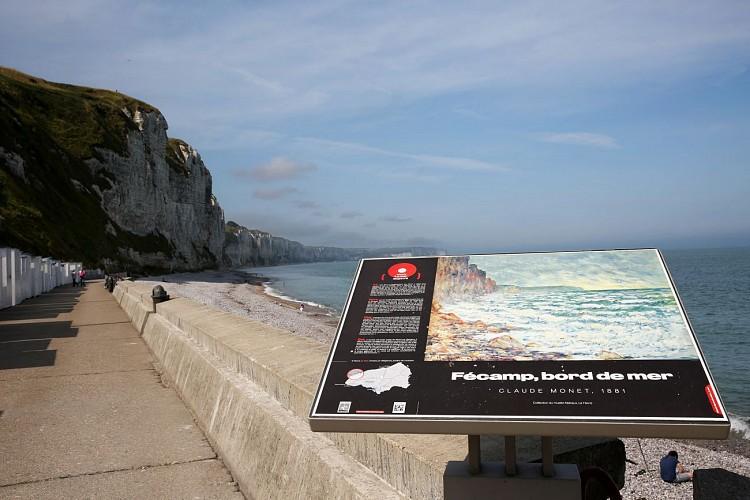 Table de lecture impressionniste n°4 - Fécamp, bord de mer