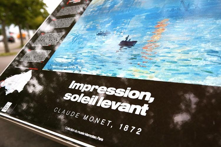 Table de lecture impressionniste n°3 - Impression soleil levant