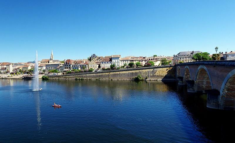 Vue sur le quai Salvette de Bergerac