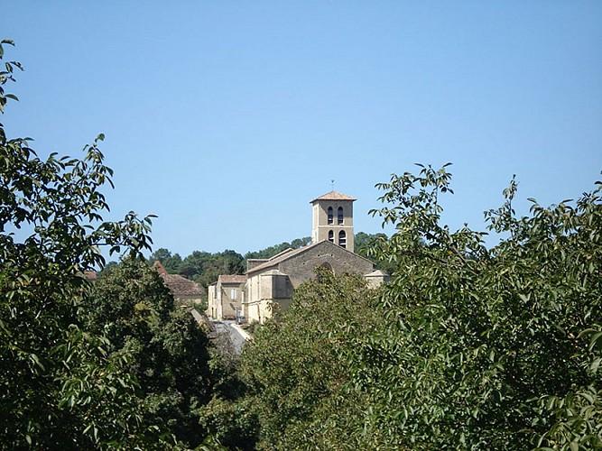 Vue sur l'Église Notre-Dame de la Nativité de Molières
