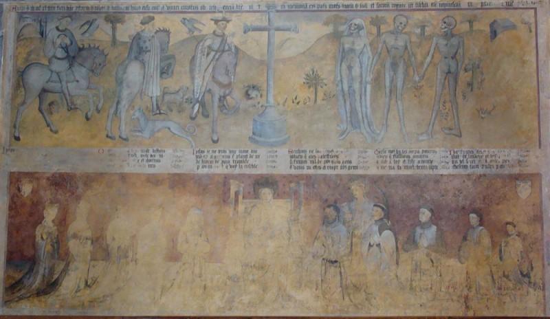 Intérieur - Fresque des trois morts et des trois vifs