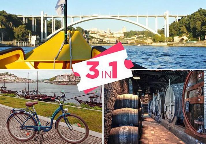 Combo Tour: Bike Rental, Cruise on the Douro and Wine Tasting – Porto