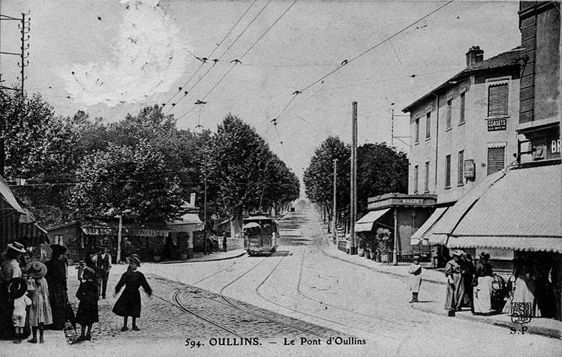 Vue sur le Pont d'Oullins et l'Yzeron