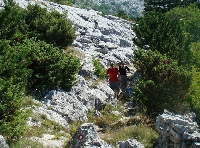 Randonnée dans le massif du Mosor - départ de Split