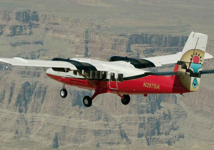 Fly Over the Grand Canyon by Plane – Departing from the Grand Canyon South Rim (south plateau)