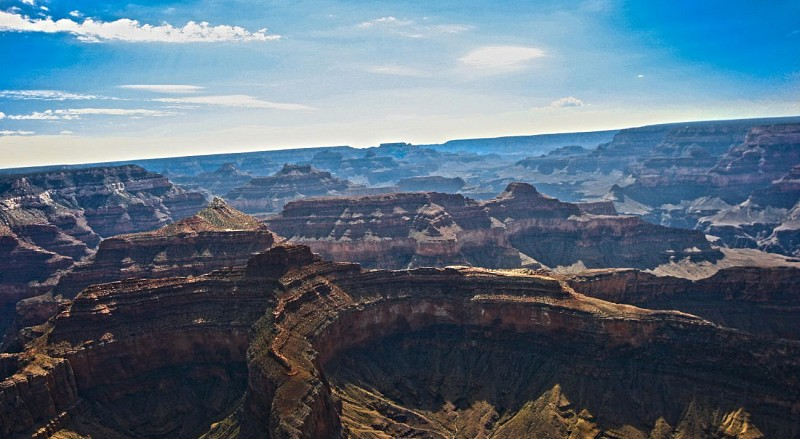 Survol en hélicoptère du Grand Canyon (45 mn) - Au départ du Grand Canyon South Rim (plateau sud)