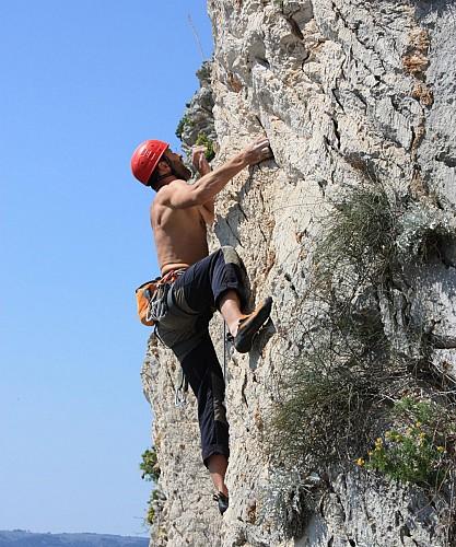 Escalade sur la colline de Marjan à Split