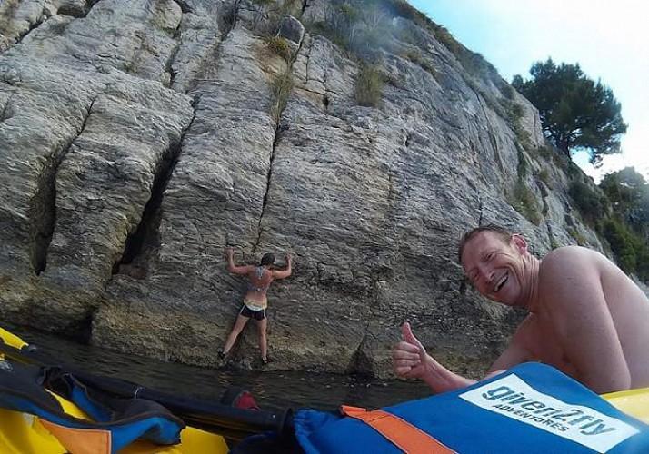 Escalade - Psicobloc et sauts dans la mer Adriatique à Split