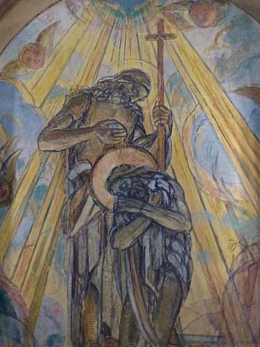 Chapelle des fonts baptismaux, décorée par G. Desvallières