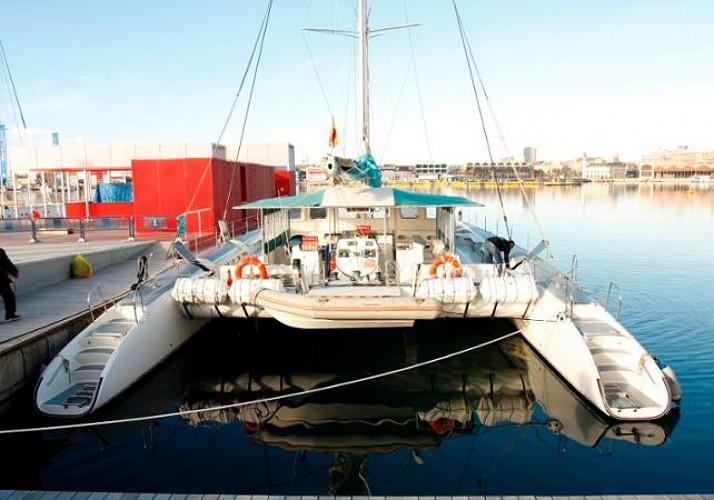 Excursion en catamaran et baignade dans la baie de Màlaga