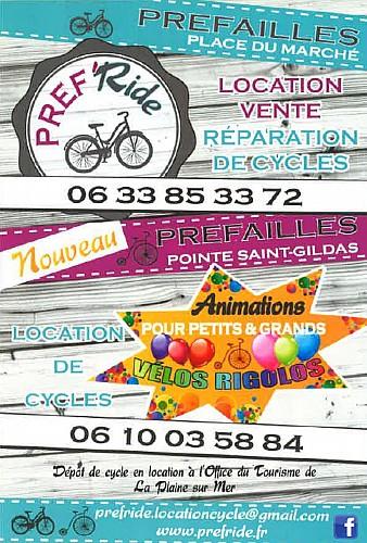 PRÉF'RIDE - VENTE ET LOCATION DE CYCLES