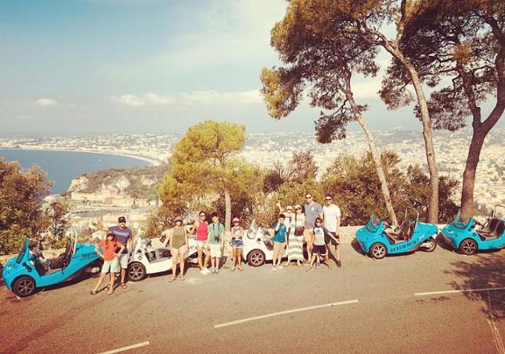 """Découverte de la French Riviera en voiturette Nicecar + atelier """"eau de Cologne"""" chez Galimard en option - au départ de Nice"""