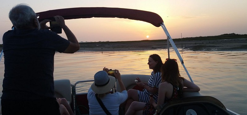 Catamaran Cruise at Sunset in the Ria Formosa in Faro