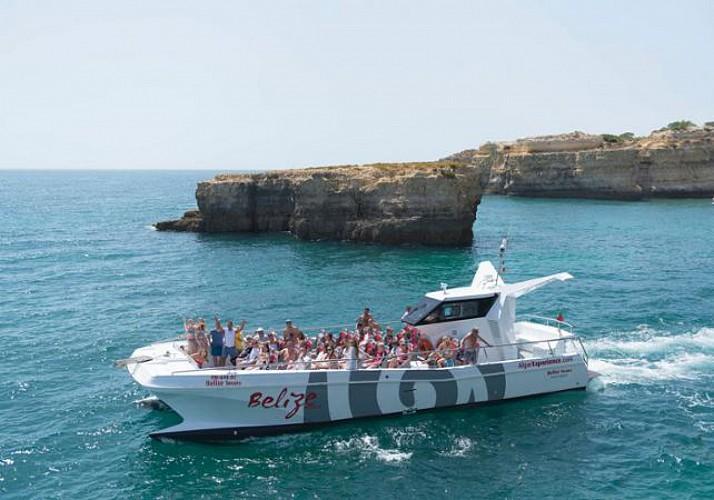 Croisière et observation des dauphins au large d'Albufeira - côte de l'Algarve