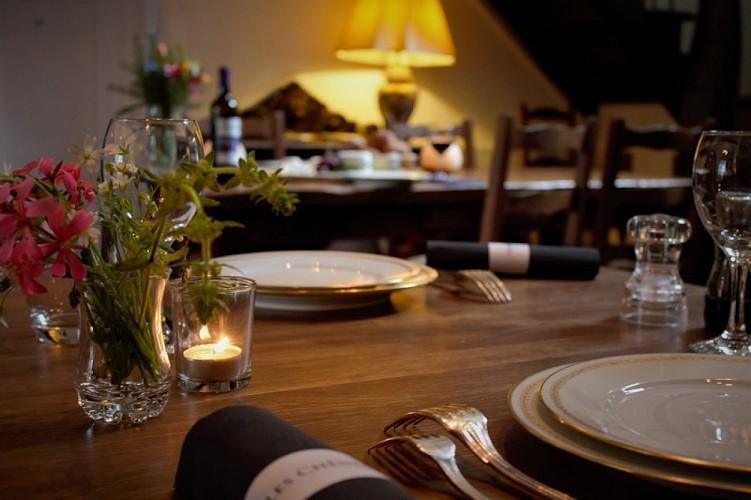 Dining at 'Les Chênes'