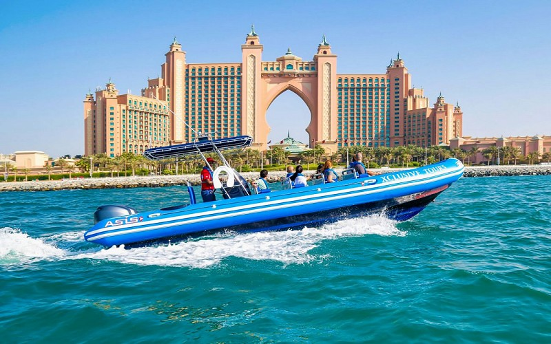 90-Minute Speedboat Tour: Marina, Atlantis, Palm & Burj Al Arab