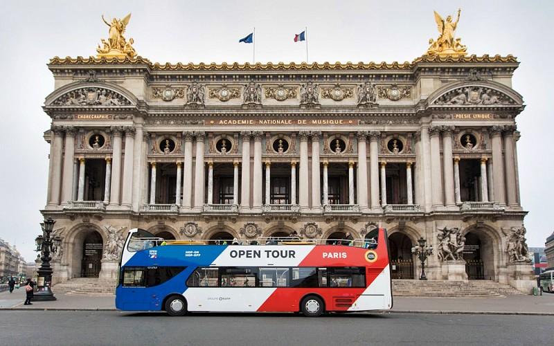 Open Tour Paris: 1/2/3 Day Hop-On-Hop-Off Sightseeing Bus Tour