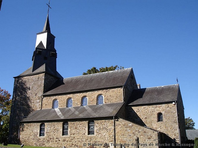 Waha - Eglise Saint-Etienne et vitraux de Jean-Michel Folon