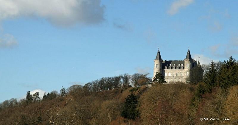 Villers-sur-Lesse - Vue sur le Château Royal de Ciergnon