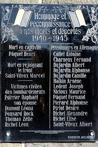 Plaques mémoire aux morts