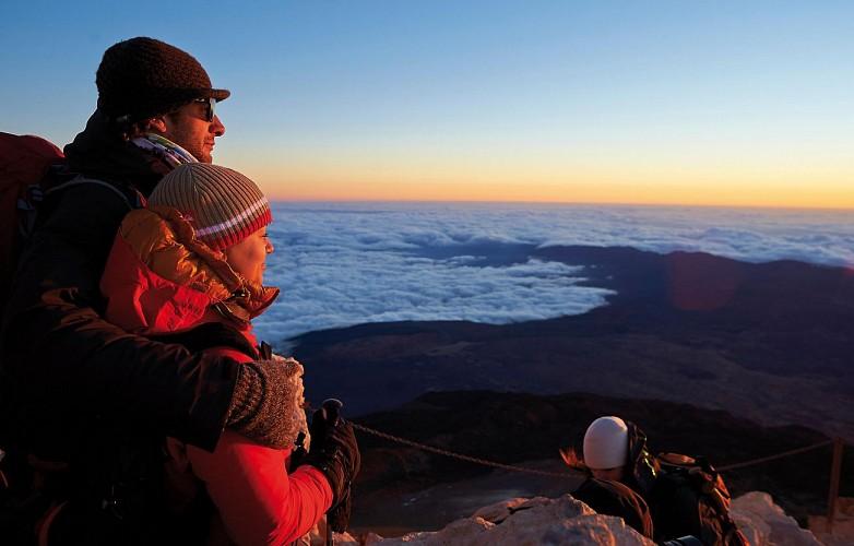 Excursion à Teide au coucher du soleil et soirée avec dîner - observation d'étoiles - billets pour le téléphérique inclus  - Tenerife