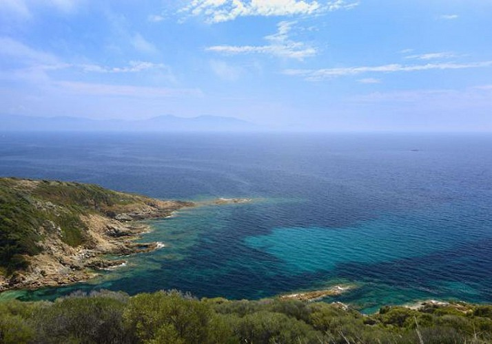 Helicopter Flight over the Gulf of Ajaccio
