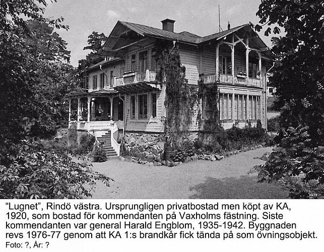 KULTURVANDRING RINDÖ   -   5  Lugnet