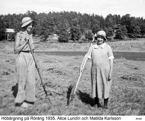 KULTURVANDRING RINDÖ   -   8  Röräng och jordbruket