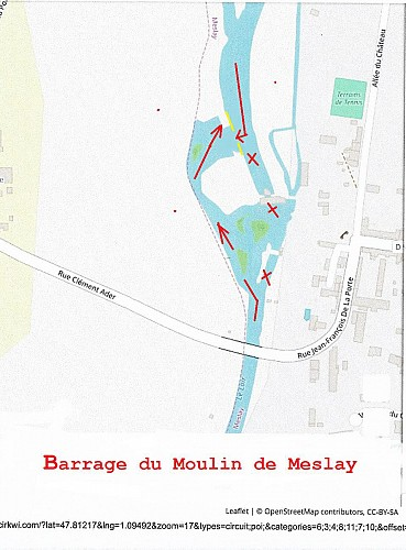 Barrage du moulin de Meslay