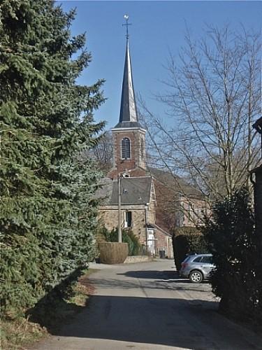 Rue Saint-François: église et cimetière