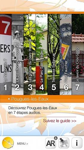 Application Ze Visit (visite intéractive) à Pougues les Eaux