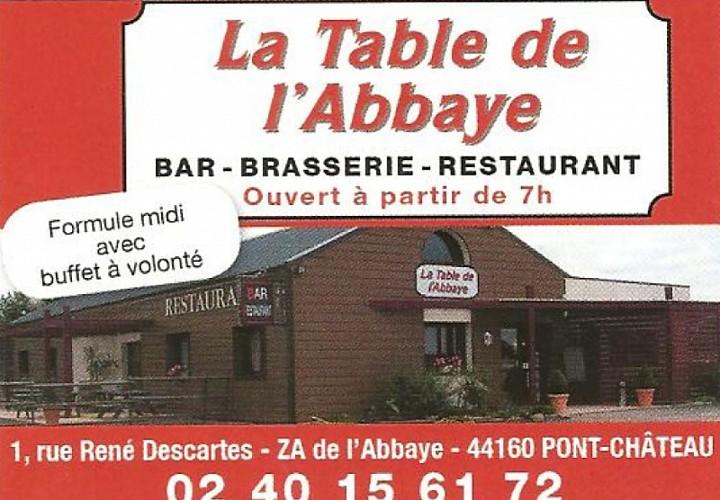 LA TABLE DE L'ABBAYE