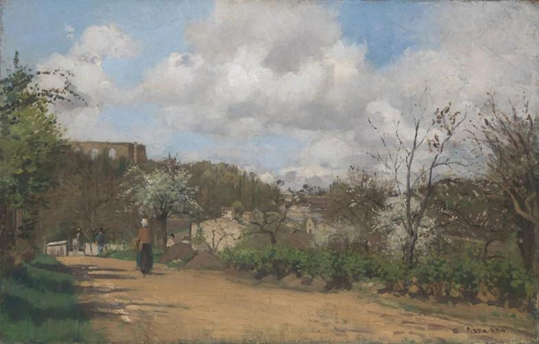 Vue de Louveciennes - Camille Pissaro - 1870 - National Gallery, Londres