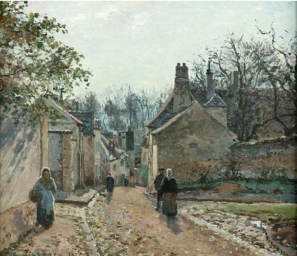 Une rue de Village, Louveciennes - Camille Pissarro - 1871, Manchester, Art Gallery